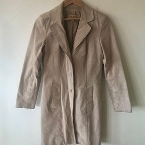 Wilson's Leather Suede Trench Coat. Size XS